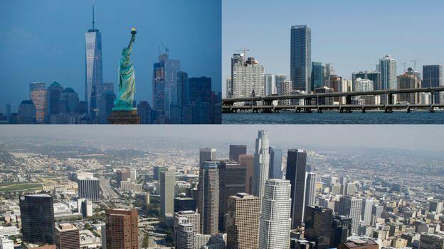Nueva York, Miami y Los Ángeles son algunas de las