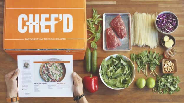 Something to chew on the rising popularity of meal kits bbc news chefd box meal solutioingenieria Image collections