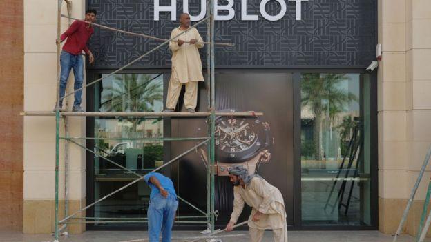 کارگران در عربستان سعودی