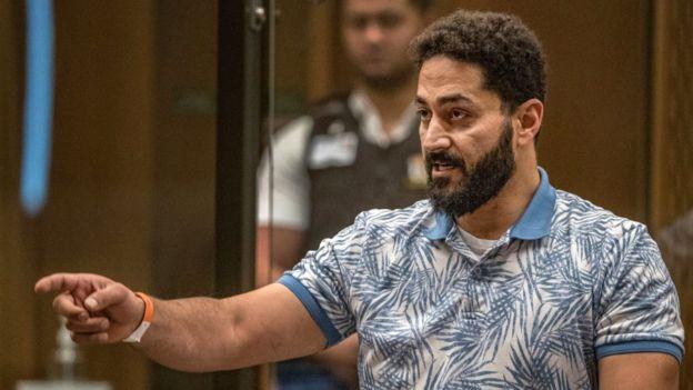 Wasseim Daragmih is seen during the sentencing hearing for Christchurch mosque gunman Brenton Tarrant