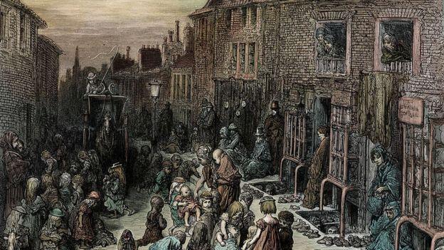 أحد الأحياء الفقيرة عام 1872