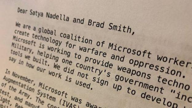 رسالة من موظفي مايكروسوفت
