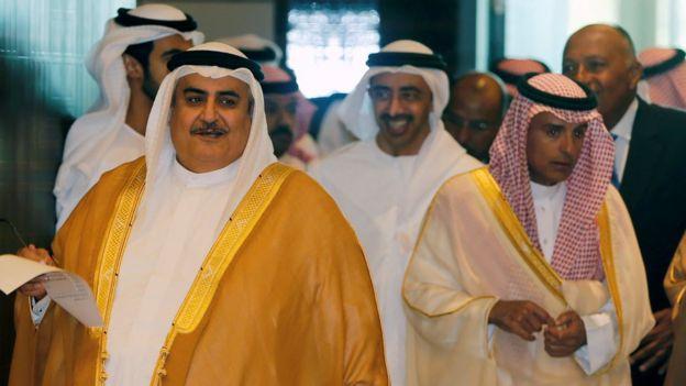 سعودی عرب، بحرین، متحدہ عرب امارات اور مصر کے وزرا خارجہ