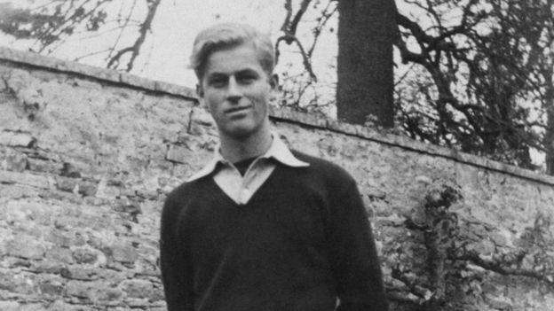 Prince Philip as a pupil at Gordonstoun