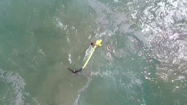 מצילים באוסטרליה עשו לראשונה שימוש ברחפן והצילו חייהם של שניים