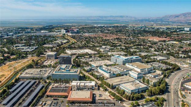 美国许多成功的科技创业公司都位于加州硅谷