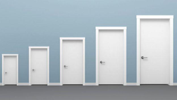 Doors of different sizes.