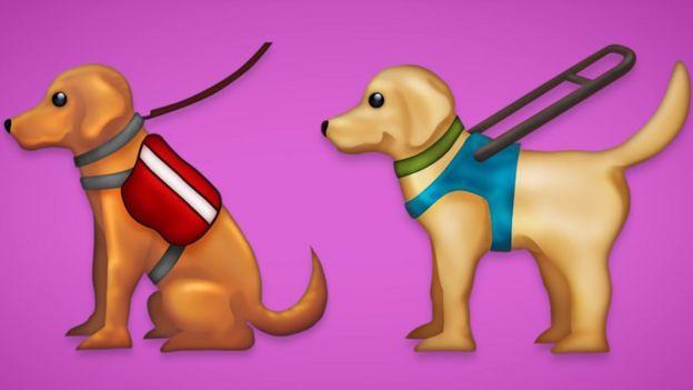 emoji perro lazarillo