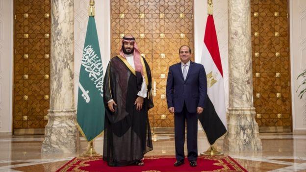 دیدار محمد بن سلمان و عبدالفتاح سیسی