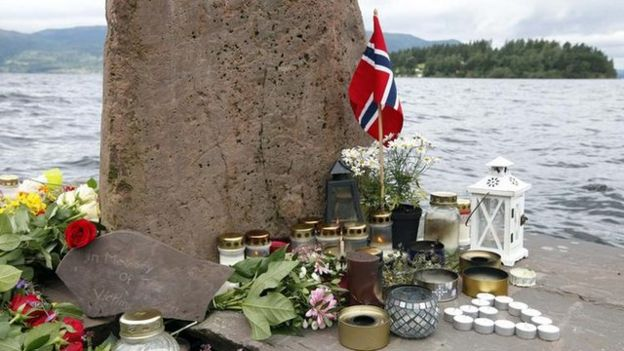 Memorial after Breivik attack