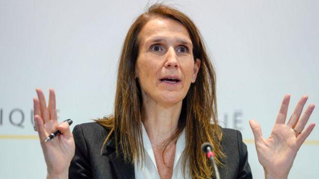 Foto da primeira-ministra da Bélgica, Sophie Wilmes