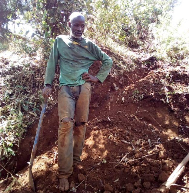 Image result for man builds road muranga