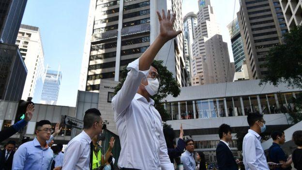 选举翌日中环继续有抗议活动。