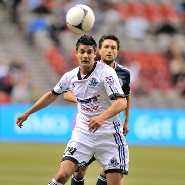 Yashir Pinto con el Edmonton