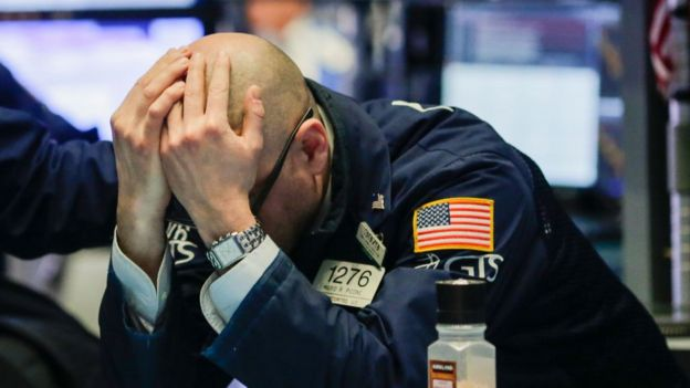 Corredor de bolsa de Wall Street