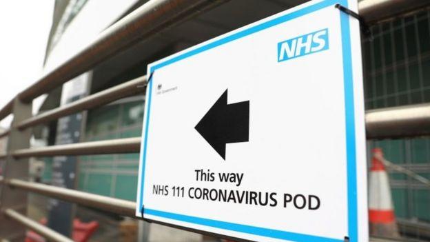 Coronavirus sign in London