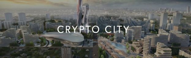 A drawing of what Cryptocity might look like
