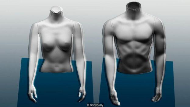 Ilustração corpo de mulher e de homem