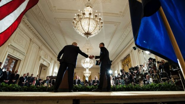 Trump e Jens Stoltenberg