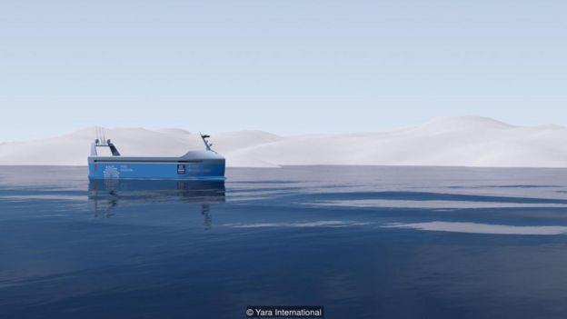 Tàu Yara Birkeland, dự kiến sẽ hoàn thành vào năm tới, được tuyên bố là tàu vận tải tự hành đầu tiên trên thế giới.