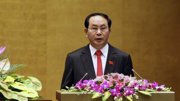 Ông Trần Đại Quang sau khi được Quốc hội bầu làm Chủ tịch nước ngày 2/4/2016