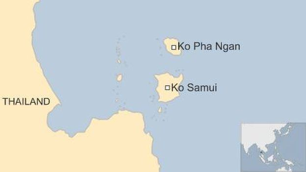 Map of region - Ko Samui and Ko Pha Ngan