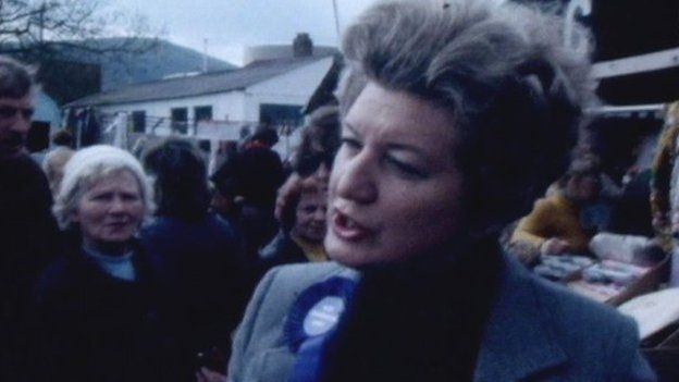 Beata Brookes campaigning in 1979