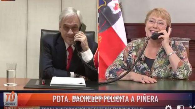 Bachelet llamó a Piñera para felicitarlo.
