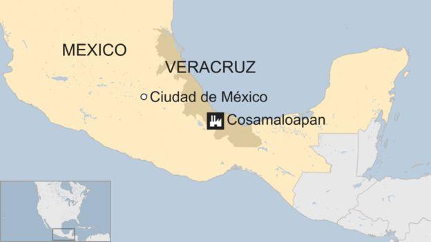 Mapa de ubicación del yacimiento.