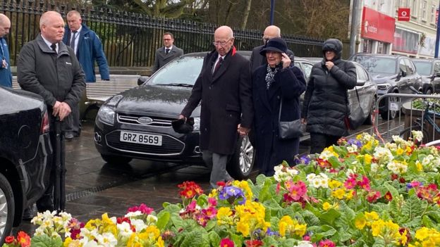 Sir Bobby Charlton is also among the mourners