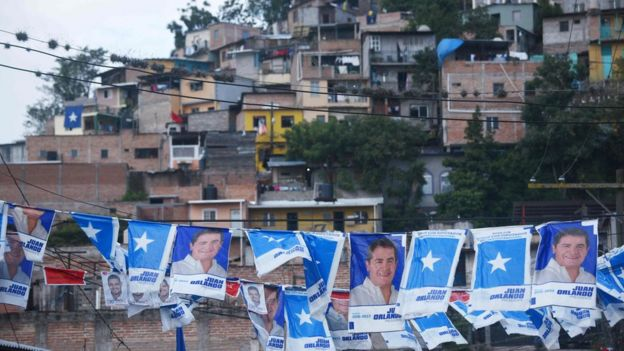 Propaganda electoral en Honduras.