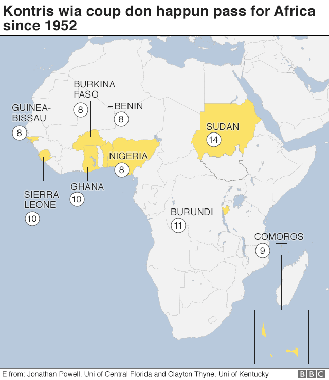 Gabon coup: Why military coup no too plenti again for Africa   BBC