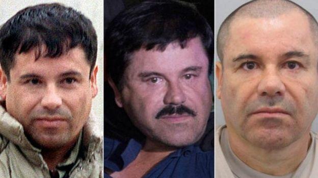 إل تشابو ظهر بثلاثة أشكال مختلفة وهرب عام 2015 من سجن شديد الحراسة في المكسيك وحوكم في أمريكا في 2017