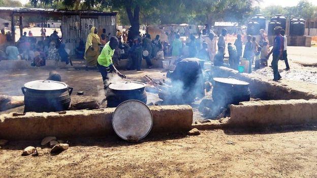 Un camp de déplacés victimes de Boko Haram dans l'Etat de Borno