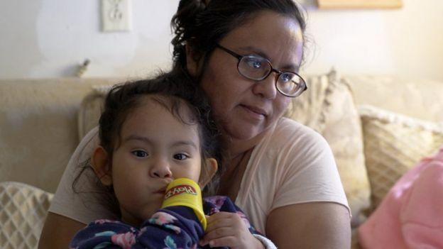 Debora Hernández y su hija Berenice