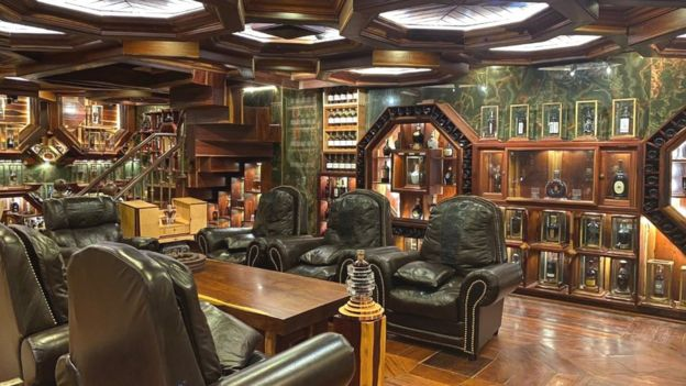 Mr Viet Nguyen Dinh Tuan's bespoke whisky lounge at his home