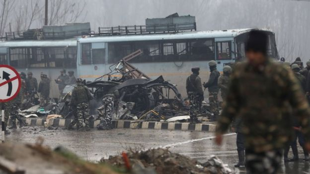Scene of Kashmir attack