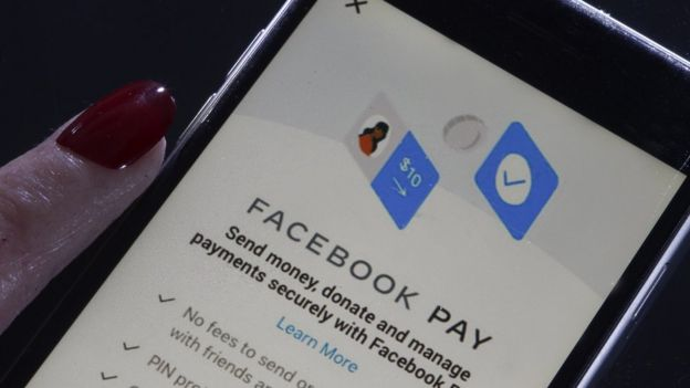 In this photo illustration, the Facebook Pay application home page is displayed on the screen of an iPhone on November 13, 2019 in Paris, France.