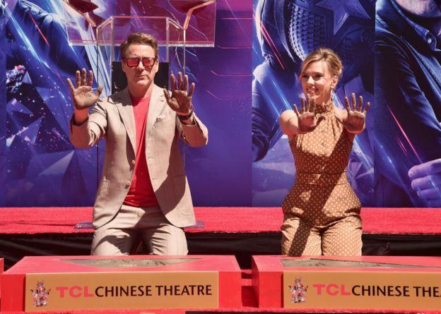 Robert Downey Junior e Scarlett Johansson