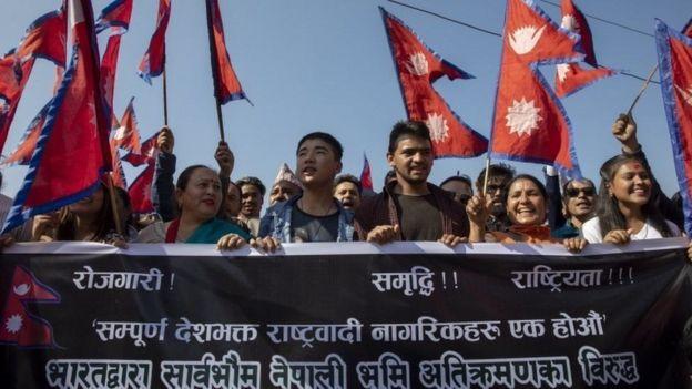भारतले जारी गरेको नक्सामा कालापानी क्षेत्र भारतीय सीमाभित्र राखिएकोमा आपत्ति जनाउँदै नेपालमा केही महिनाअघि विरोधप्रदर्शन भएको थियो
