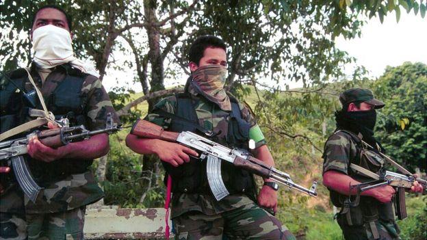 Боевики правых вооруженных группировок в Колумбии в начале 2000 годов