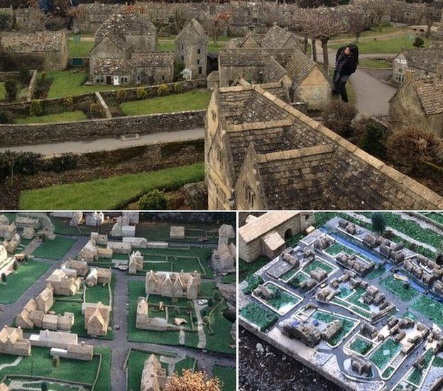The three different scales of model village