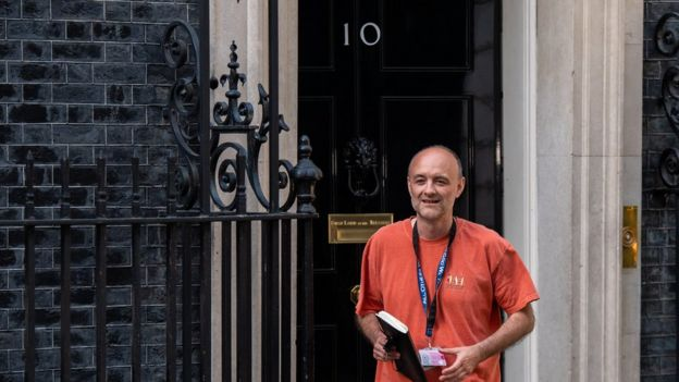 Dominic Cummings leaves 10 Downing Street on 24 May 2020