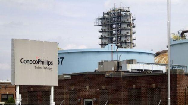 Nhà máy lọc dầu của ConocoPhillips ở Pennsylvania, Mỹ