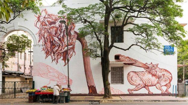 Mural di Lodhi Colony, New Delhi