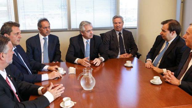 Reunião entre Rodrigo Maia e Alberto Fernández