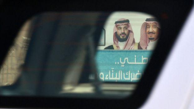 Suudi Kral Selman Bin Abdulaziz (sağda) ve Veliaht Prens Muhammed bin Selman