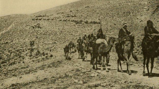 صورة لقوات تابعة للجيش البريطاني في فلسطين خلال الحرب العالمية الأولى