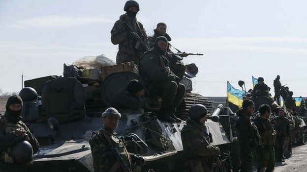 Convoy of Ukrainian armed forces