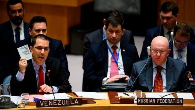 نمایندگان روسیه و ونزوئلا در شورای امنیت